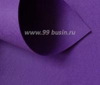 Фетр Гамма Премиум фиолетовый (848) лист 30*20 см,  толщина 1,2 мм, 1 лист 100% полиэстер, Корея 060954 - 99 бусин