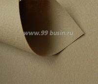 Фетр Гамма Премиум теплый беж (878) лист 30*20 см,  толщина 1,2 мм, 1 лист 100% полиэстер, Корея 060955 - 99 бусин