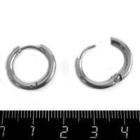 Швензы Кольца нержавеющая сталь 17 мм диаметр, 2 мм толщина, 1 пара 060972 - 99 бусин