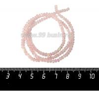 Бусины хрустальные на нити форма Рондель 3*2 мм, цвет розовый/радужный 40 см нить/около 180 бусин 061017 - 99 бусин