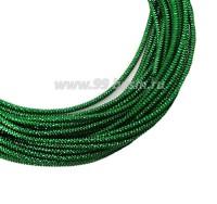 Канитель граненая 2,3 мм, цвет травяной зеленый, пр-во Индия, упаковка 5 граммов 061047 - 99 бусин