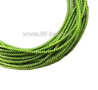 Канитель граненая 2,3 мм, цвет яблочно-зеленый, пр-во Индия, упаковка 5 граммов 061048 - 99 бусин