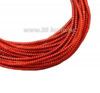 Канитель граненая 2,3 мм, цвет оранжевый, пр-во Индия, упаковка 5 граммов 061050 - 99 бусин