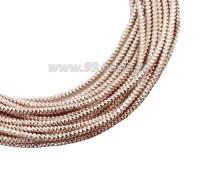 Канитель граненая 2,3 мм, цвет розовое золото, пр-во Индия, упаковка 5 граммов 061051 - 99 бусин