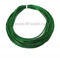 Канитель ОПТ граненая 2,3 мм, цвет травяной зеленый, пр-во Индия, упаковка 50 граммов 061055 - 99 бусин