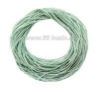 Канитель ОПТ FANCY 1,5 мм гладкая упругая, цвет sea green/rainbow (морской зеленый/серебристый радужный) 50 граммов/упаковка 061206 - 99 бусин