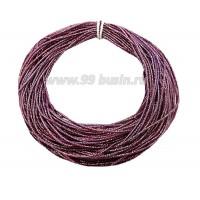 Канитель ОПТ FANCY 1,5 мм гладкая упругая, цвет sea purple/rainbow (лиловый/радужный) 50 граммов/упаковка 061207 - 99 бусин