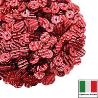 Пайетки Италия гофрированные 4 мм цвет G51 Profondo Rosso (Багряный красный) 3 грамма 061224 - 99 бусин