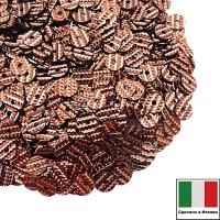 Пайетки Италия гофрированные 4 мм цвет G101 Rame (старая медь) 3 грамма 061225 - 99 бусин