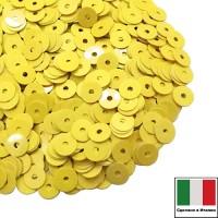 Пайетки Италия лаковые 5 мм цвет Giallo (жёлтый лимон) 3 грамма 061227 - 99 бусин