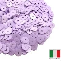 Пайетки Италия лаковые 5 мм цвет Lilla (лиловый) 3 грамма 061230 - 99 бусин