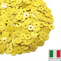Пайетки Италия лаковые 4 мм цвет Giallo (жёлтый лимон) 3 грамма 061231 - 99 бусин