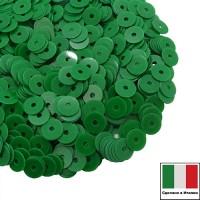 Пайетки Италия лаковые 3 мм цвет Verde (тропический зеленый) 3 грамма 061236 - 99 бусин