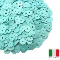 Пайетки Италия лаковые 3 мм цвет Ciano (морская волна) 3 грамма 061237 - 99 бусин