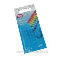 Иглы Prym для бисера, производство Германия, набор 4 штуки/блистер 061242 - 99 бусин