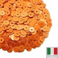 Пайетки Италия лаковые 4 мм цвет Arancio (апельсин) 3 грамма 061262 - 99 бусин