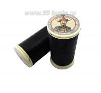 Нитки металлизированные №40 Fil au Chinos Китайский император - цвет 170 черный (black) Франция 100 метров/катушка 061502 - 99 бусин