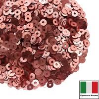 Пайетки Италия METAL 3 мм  цвет M13 Corallo (коралловый тёмный) 3 грамма 061505 - 99 бусин