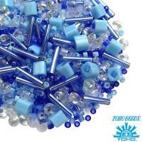 Бисер TOHO Beads Mix, цвет 02 Light Blue2, 10 грамм/упаковка 061534 - 99 бусин
