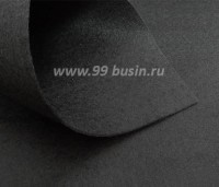 Фетр Гамма Премиум чёрный МЯГКИЙ, лист 30*20 см,  толщина 1 мм, 1 лист 100% полиэстер, Корея 061535 - 99 бусин