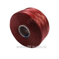 Нить Superlon (S-lon) AA цвет Sienna катушка 68.58 метров 061664 - 99 бусин
