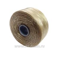 Нить Superlon (S-lon) D цвет Beige, толщина 0,11 мм, катушка 71.3 метров 061665 - 99 бусин