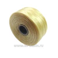 Нить Superlon (S-lon) D цвет Cream, толщина 0,11 мм, катушка 71.3 метров 061666 - 99 бусин