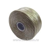 Нить Superlon (S-lon) D цвет Ash (серый), толщина 0,11 мм, катушка 71.3 метров 061667 - 99 бусин