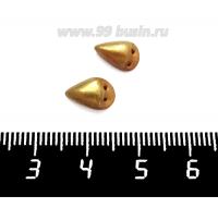 Декоративный элемент Клюв Птичка (левый/правый), пришивной, из полимерной глины, цвет золотистый, размер около 9-11*6-8 мм, ручная работа, 1 штука 061695 - 99 бусин