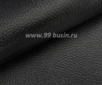 Экокожа, цвет черный глянец, размер 20*14 см, толщина 0,8 мм, фактурность мелкая, 1 лист 061727 - 99 бусин