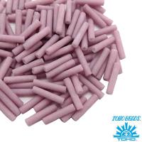 Стеклярус TOHO BUGLE 9 мм № 0765 матовый пыльно-розовый 5 граммов Япония 061742 - 99 бусин