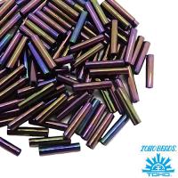 Стеклярус TOHO BUGLE 9 мм № 0085 фиолетовый ирис 5 граммов Япония 061744 - 99 бусин