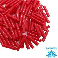 Стеклярус TOHO BUGLE 9 мм № 0045A красный глянцевый 5 граммов Япония 061746 - 99 бусин