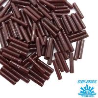 Стеклярус TOHO BUGLE 9 мм № 0046 горький шоколад 5 граммов Япония 061749 - 99 бусин