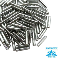 Стеклярус TOHO BUGLE 9 мм № 0029 серый серебристое отверстие 5 граммов Япония 061753 - 99 бусин