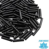 Стеклярус TOHO BUGLE 9 мм № 0049 черный непрозрачный 5 граммов Япония 061756 - 99 бусин