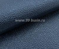 Экокожа Турция перламутровая, цвет полуночный синий, размер 20*14 см,  толщина 1 мм, фактурность мелкая, 1 лист 061799 - 99 бусин