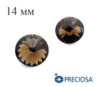 Риволи PRECIOSA Maxima 14 мм Smoked Topaz 1 штука 061825 - 99 бусин