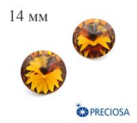 Риволи PRECIOSA Maxima 14 мм Topaz 1 штука 061826 - 99 бусин