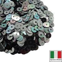Пайетки Италия плоские 3 мм Verde Luna metall. Iridato MI39 (Гематит зеленоватый металлик) 3 грамма 061857 - 99 бусин