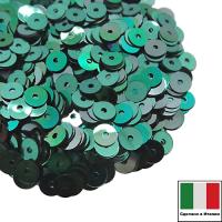Пайетки Италия плоские 4 мм Smeraldo metall  M31 (Изумрудный металлик) 3 грамма 061860 - 99 бусин