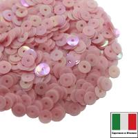 Пайетки Италия ORIENTAL 4 мм плоские цвет Rosa Antico 04 (холодный розовый ориентал) 3 грамма 061865 - 99 бусин