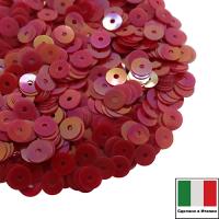 Пайетки Италия ORIENTAL 4 мм плоские цвет Rosso 05 (красный ориентал) 3 грамма 061867 - 99 бусин