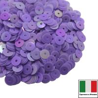 Пайетки Италия ORIENTAL 4 мм плоские цвет Viola 07 (светло-фиолетовый ориентал) 3 грамма 061869 - 99 бусин