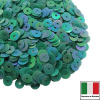 Пайетки Италия ORIENTAL 4 мм плоские цвет Smeraldo 11 (изумрудный ориентал) 3 грамма 061871 - 99 бусин