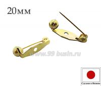 Основа для броши с поворотным механизмом 20 мм, цвет золото, 1 отверстие, ЯПОНИЯ 061882 - 99 бусин