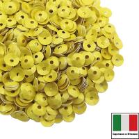 Пайетки Италия лаковые ЧАША 4 мм цвет Giallo (жёлтый лимон) 3 грамма 061896 - 99 бусин