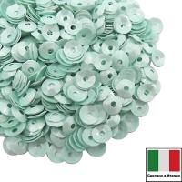Пайетки Италия лаковые ЧАША 4 мм цвет Tiffany (Тиффани) 3 грамма 061897 - 99 бусин