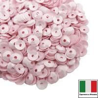 Пайетки Италия лаковые ЧАША 4 мм цвет Rosa (нежно-розовый глянец) 3 грамма 061898 - 99 бусин