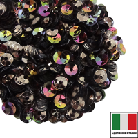 Пайетки Италия 4 мм ЧАША Marrone metall. Iridato MI07 (Ореховый радужный металлик) 3 грамма 061901 - 99 бусин